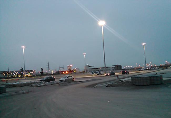 240w flood light parking lot project